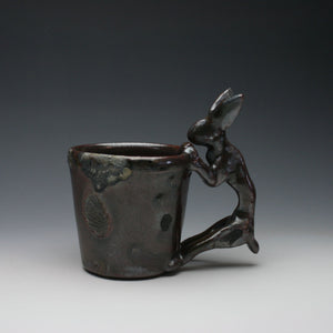 Wood Fired Chocolate Shino Rabbit Coffee Mug A011