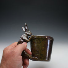 Load image into Gallery viewer, Wood Fired Chocolate Shino Rabbit Coffee Mug A011