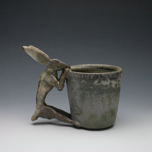 Wood Fired Shino Rabbit Coffee Mug A012