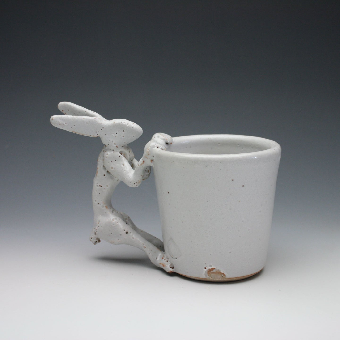 White Shino Rabbit Coffee Mug A013