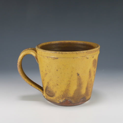 Yellow Wood fired Mug