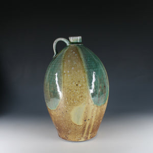 Blue+Green on Yellow Glaze Jug