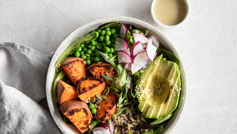 spring quinoa bowl by sapana chandra