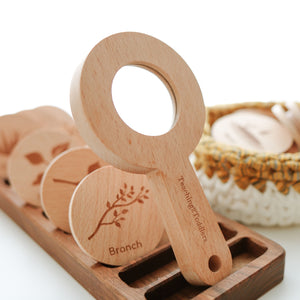 SECONDS SALE Wooden Magnifying Glass - Individual