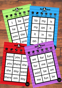 Roll and Cover - Sight Words
