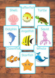 Under the Sea Word Cards- FREEBIE