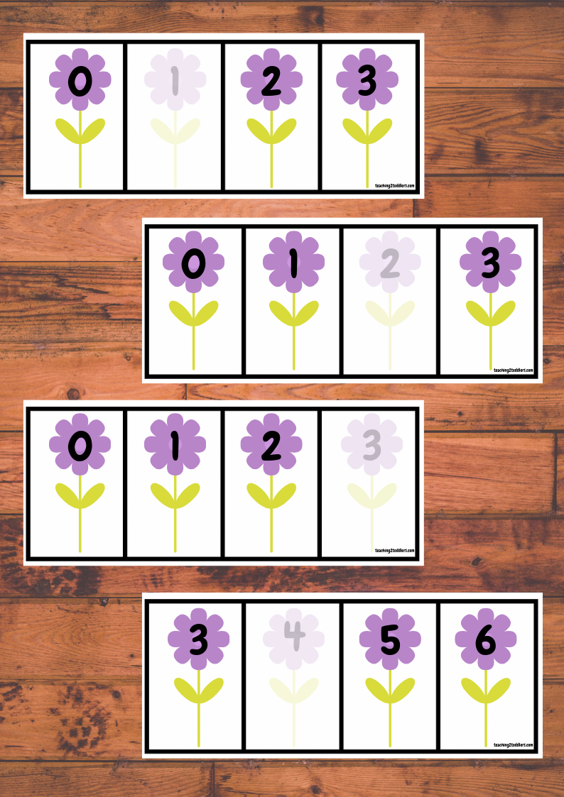 0-20 Flower Number Sequencing