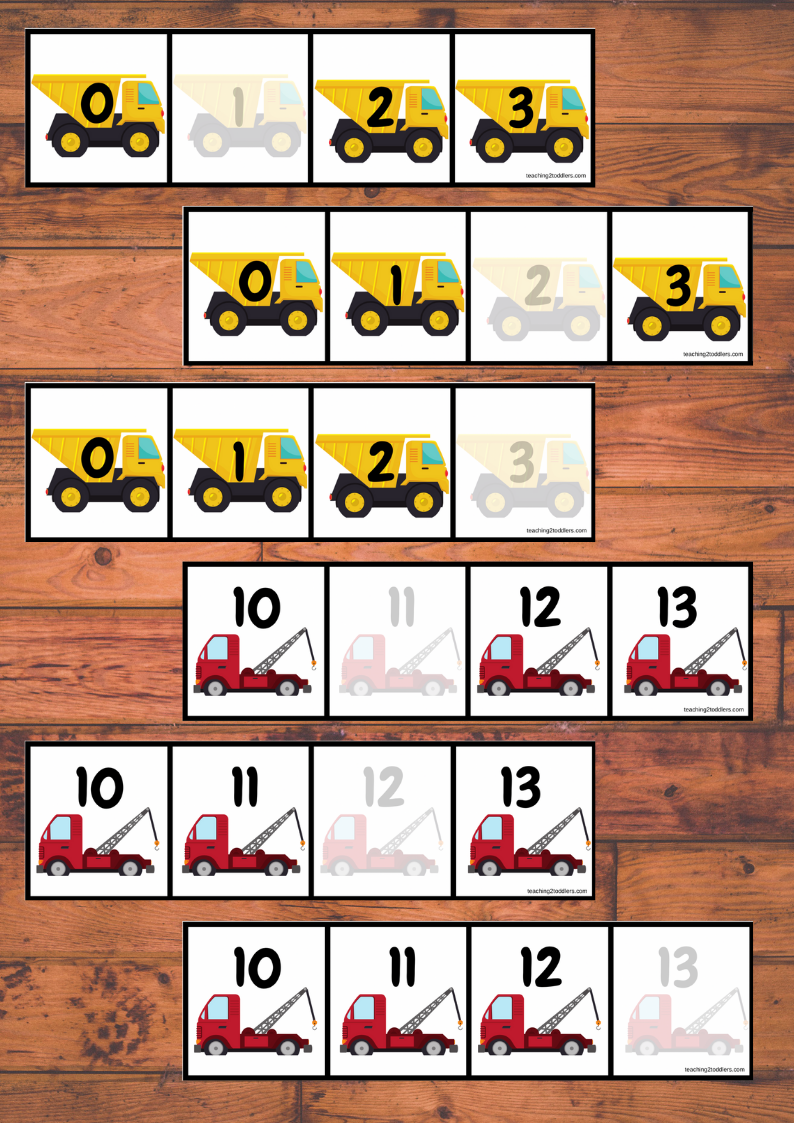 0-20 Truck Number Sequencing