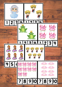 Peg Cards 1-10 Fairy Tale Theme