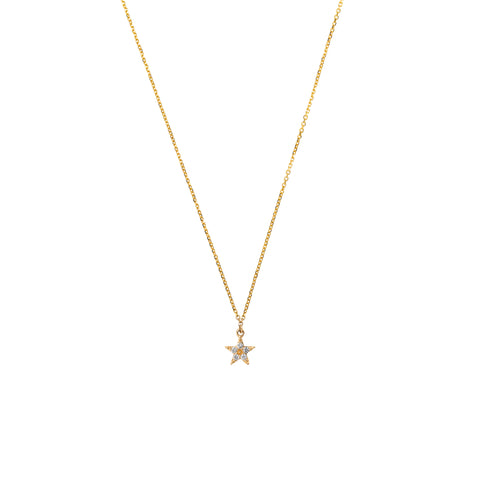14k Diamond Mini Star Necklace