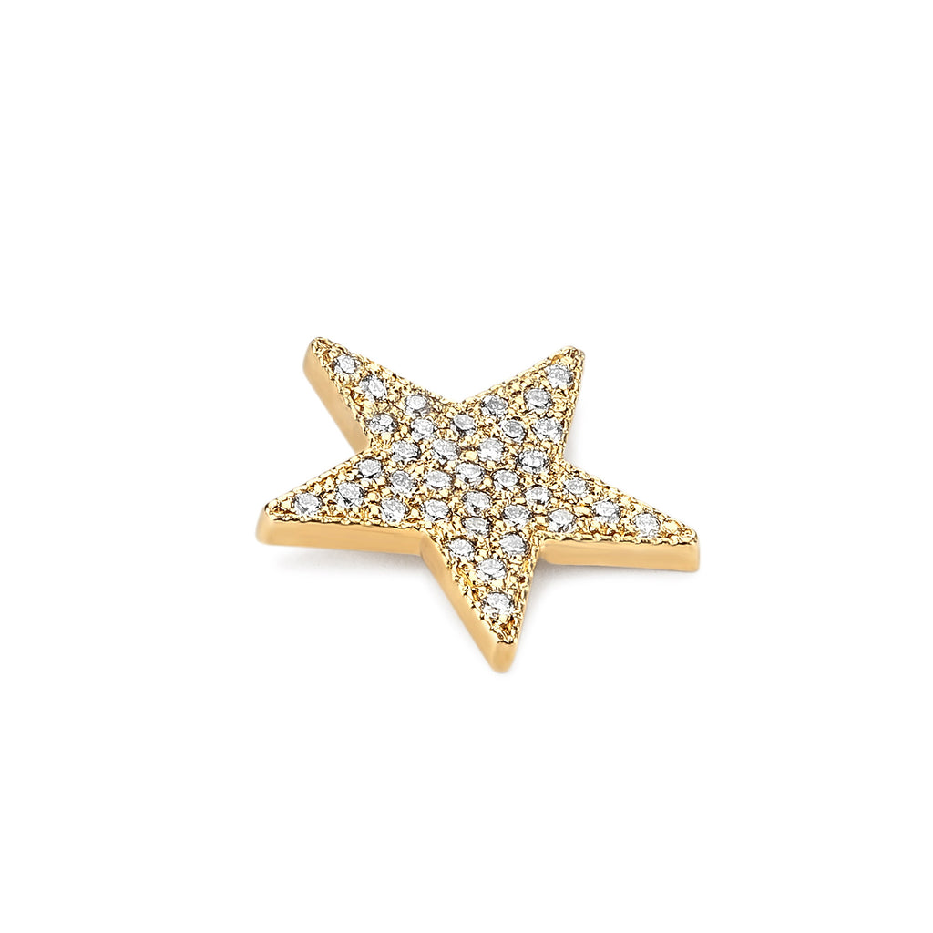 Medium Diamond Star Charm Necklace