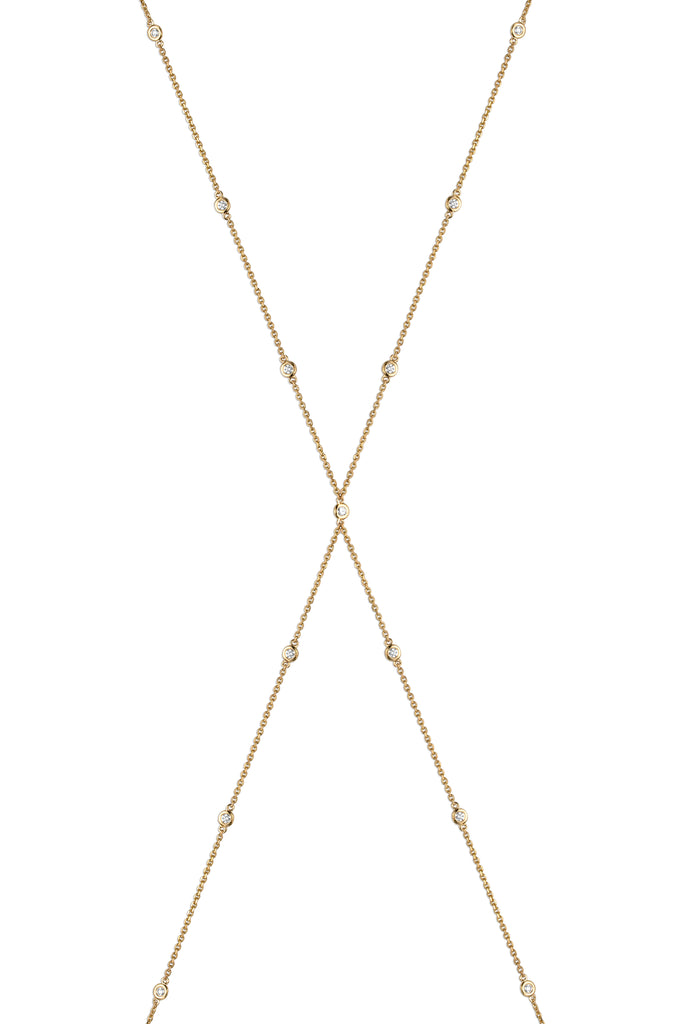 Solstice 18k Gold Diamond Bezel Body Chain