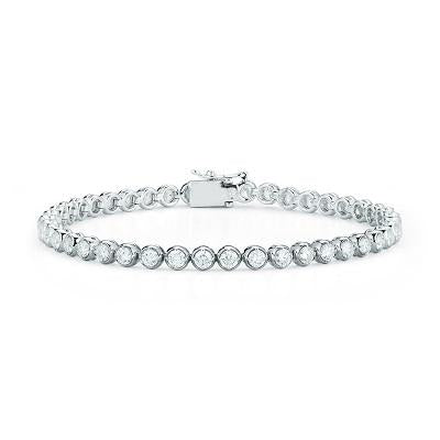 18k Gold Diamond Bezel Tennis Bracelet