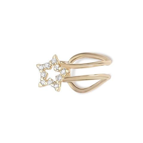 Diamond Star Ear Cuff