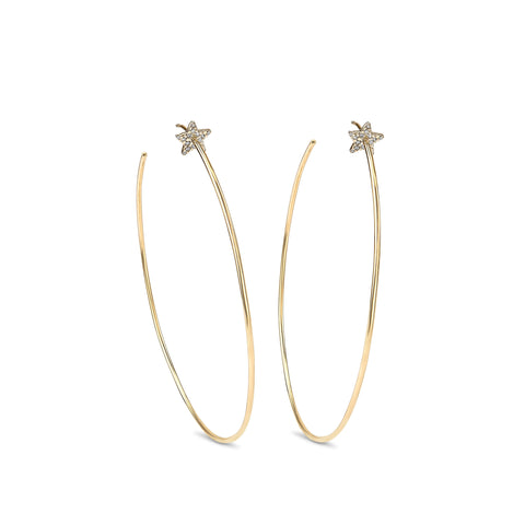 Celestial Diamond Star Hoops