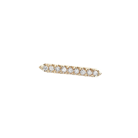 Aura 14K Gold Pave Diamond Bar Pointe Stud