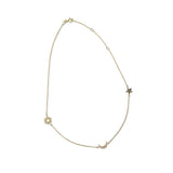 Tres Chic Diamond Sun, Moon & Star Station Necklace