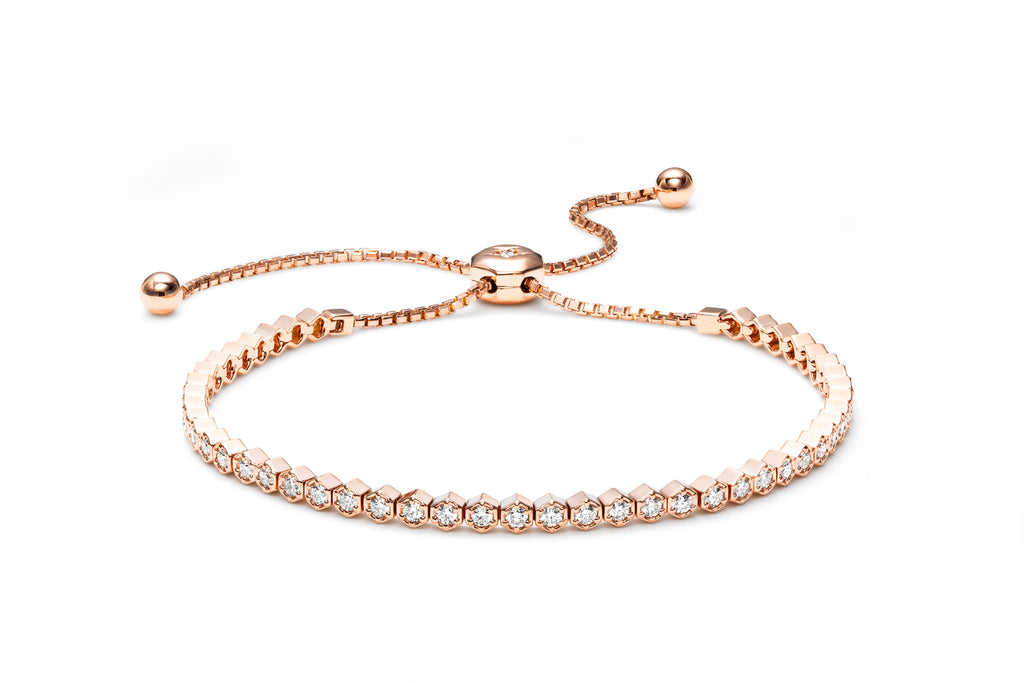 VALENTINA 18K GOLD & DIAMOND HEX BRACELET