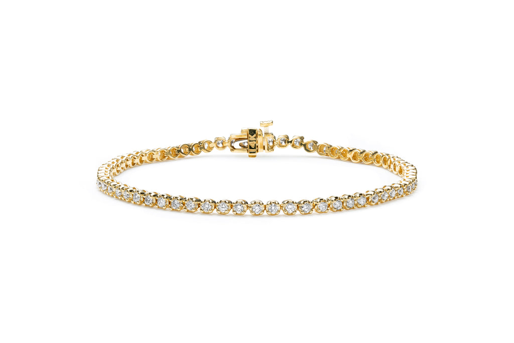 MALIBU 14K GOLD & DIAMOND TENNIS BRACELET