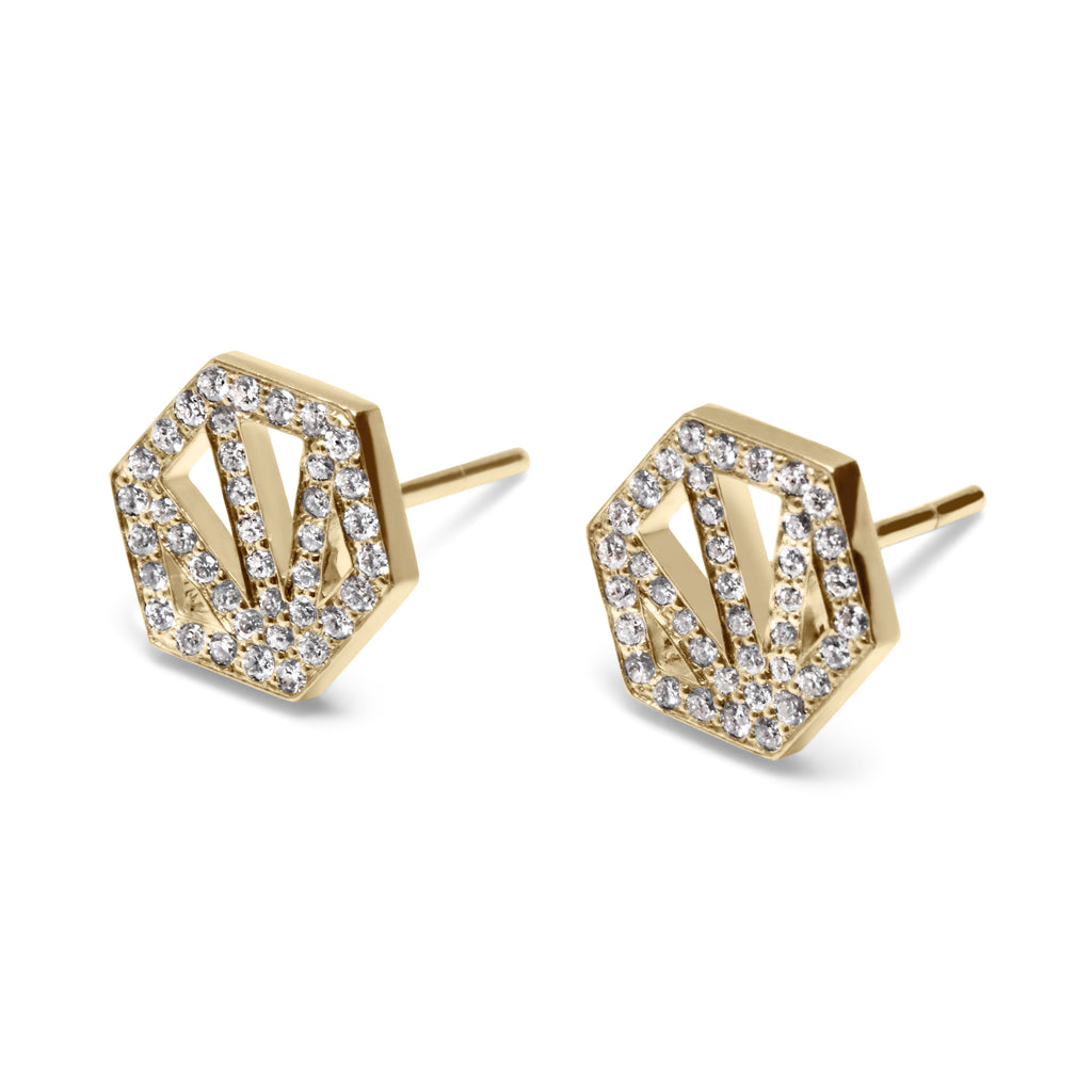 EVE 18K GOLD & DIAMOND PROTECTION STUDS