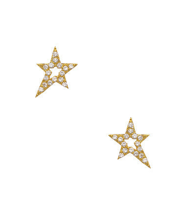 Cosmic Pave Star Studs