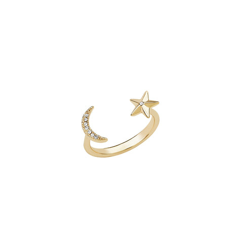 Asher Moon & Star Open Ring