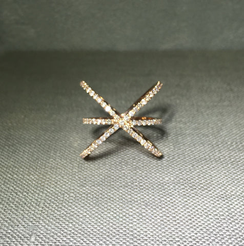 Xfinity 14k Gold Pave Diamond Ring