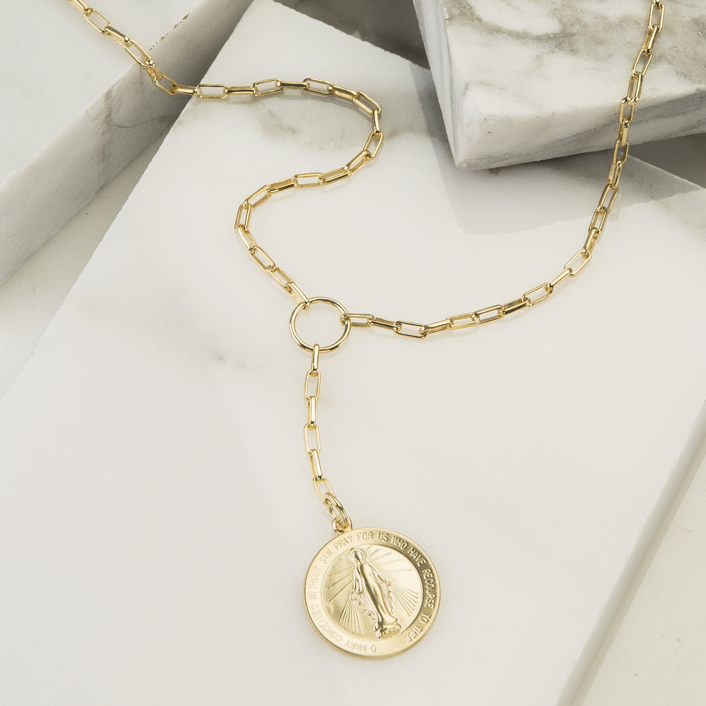 Santorini Coin Lariat Necklace