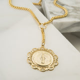 Vail Coin Lariat Necklace