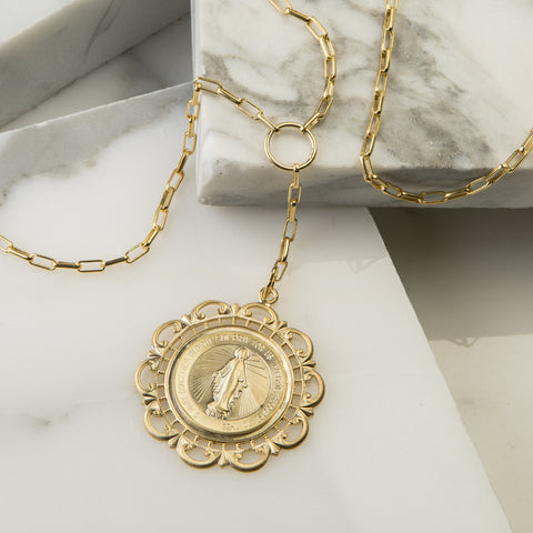 Capri Coin Long Lariat Necklace