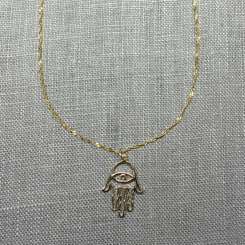 Liv Gold Vermeil Hamsa Necklace