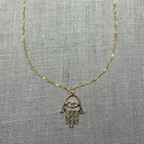 Liv 14k Gold Hamsa Necklace