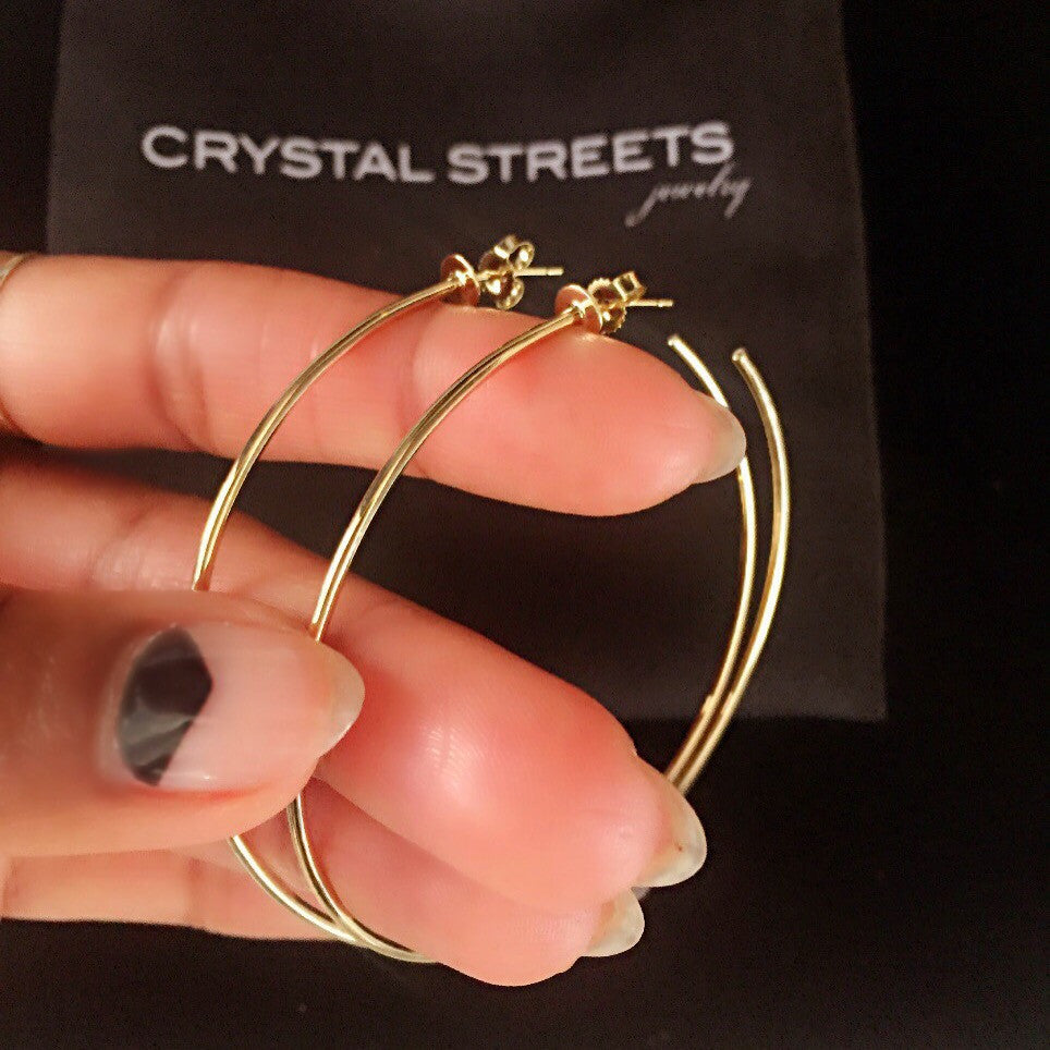 Classic 14k Gold Hoops