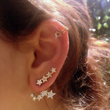 Phin Graduated Pave Star Ear Cuff
