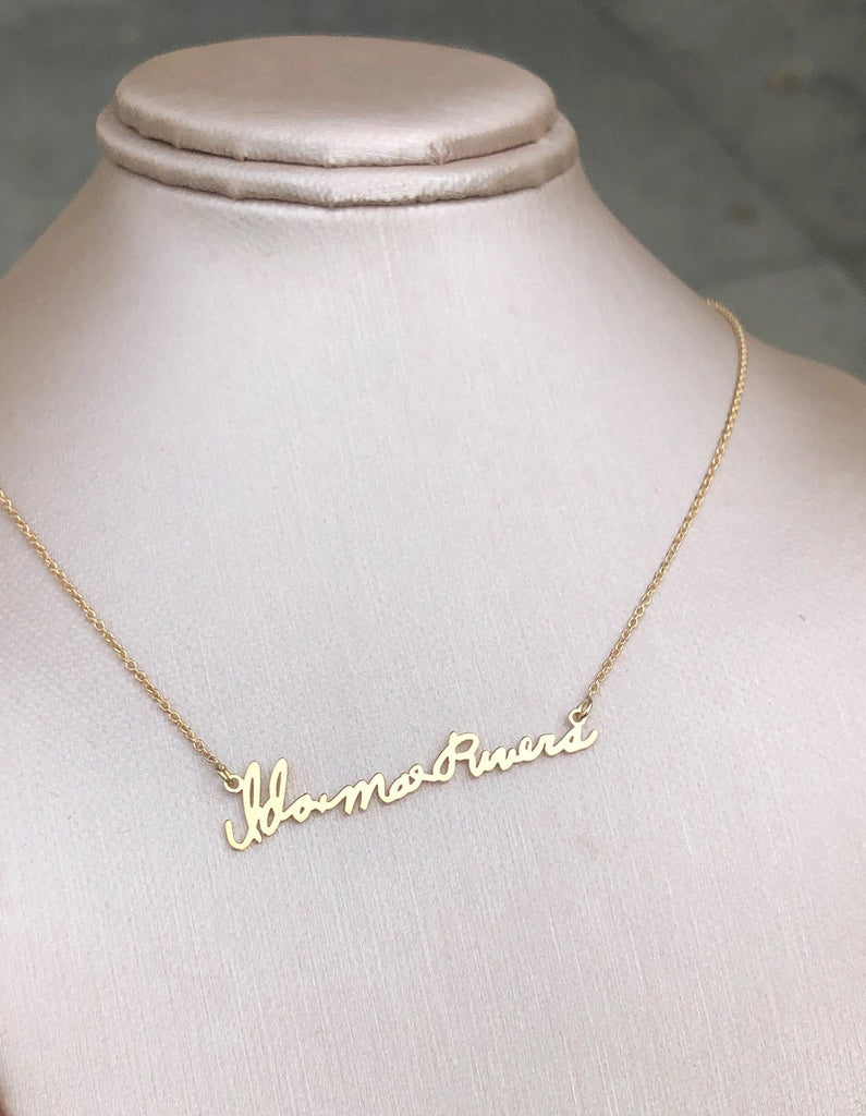 Handwriting Note Necklace