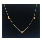 Tati 14K Gold Mini Initial Necklace