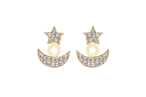 Phoebe Pave Moon & Star Ear Jacket