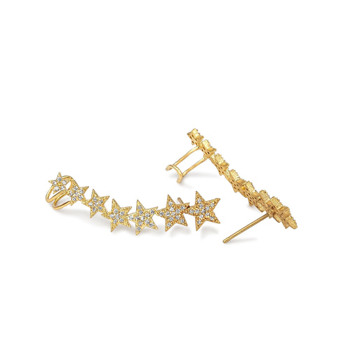 Spectra Pave Star Ear Cuff