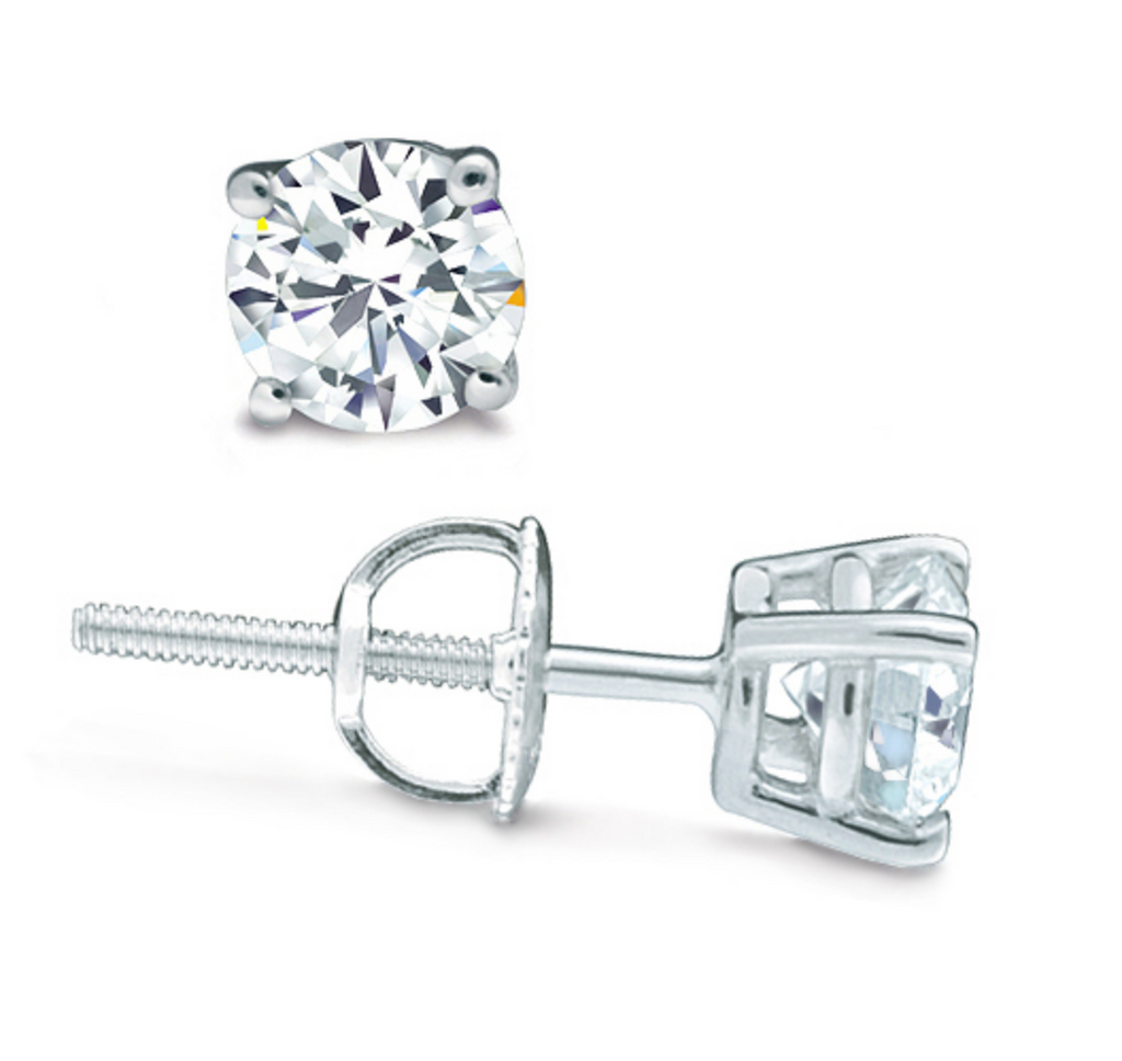 CLASSIC FOUR-PRONG ROUND DIAMOND STUDS
