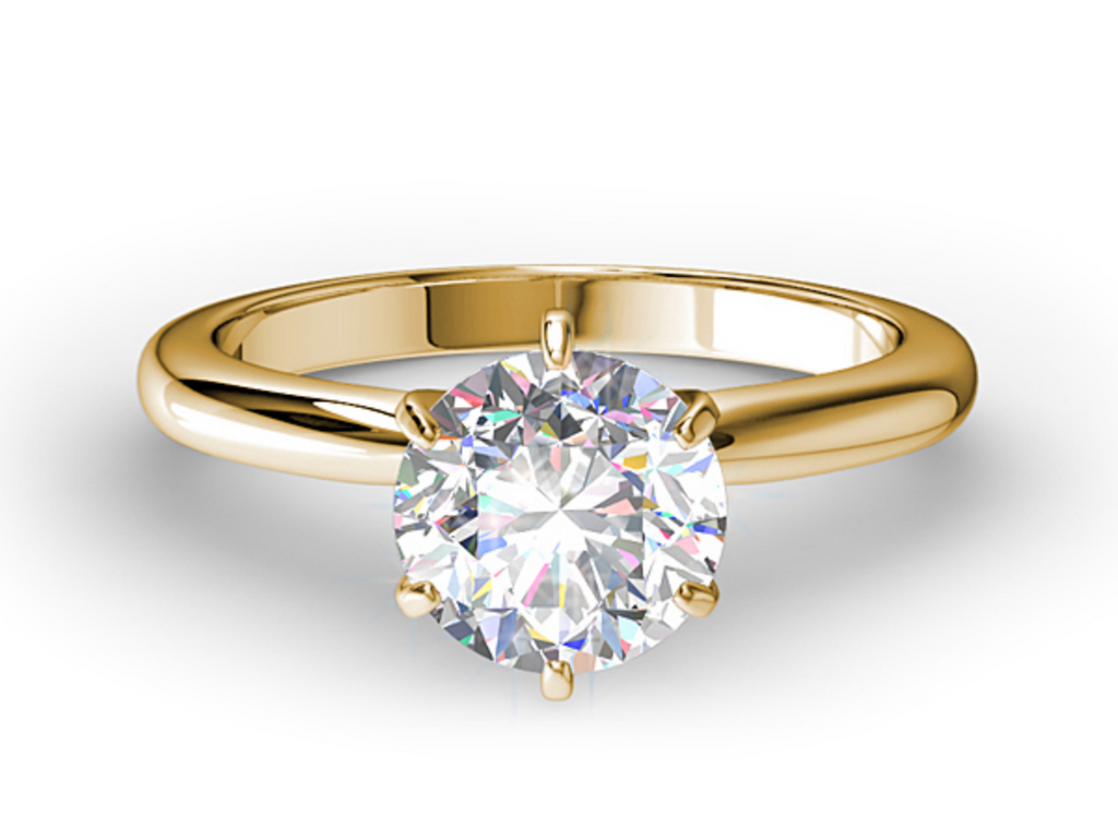 CLASSIC ROUND SIX PRONG SOLITAIRE ENGAGEMENT RING