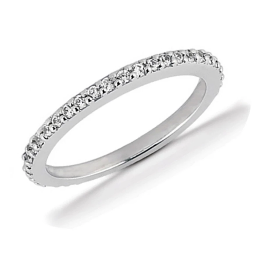 PAVE SET DIAMOND ETERNITY BAND