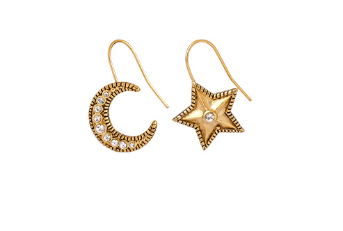 Vega Moon & Star Earrings