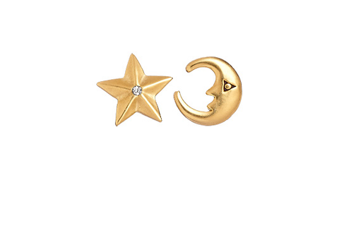 Niah Moon & Star Studs