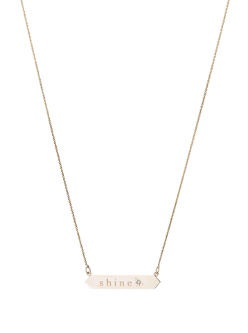Shine Nameplate Necklace