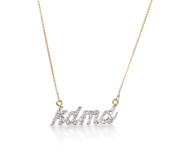 Custom Diamond Name Necklace