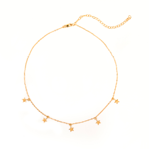 14k Gold Mini Star Choker