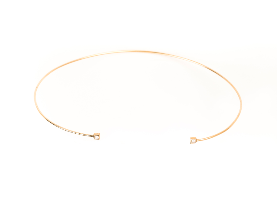 Dulce 14k Gold Princess Cut Diamond Choker