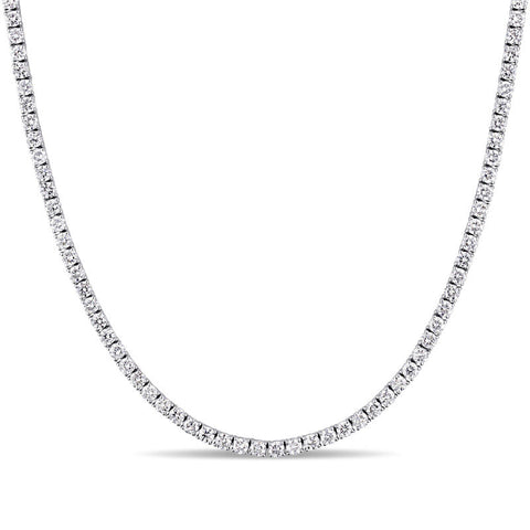 Lizzy 14k Gold Diamond Tennis Necklace