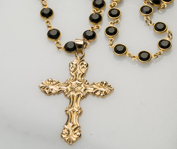 Valentina Swarovski Crystal Necklace with Cross