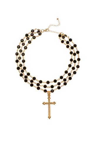 Camilla Swarovski Crystal Choker with Cross